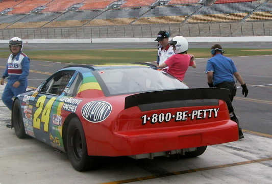 My wife Cathy loads up for some hot laps!
