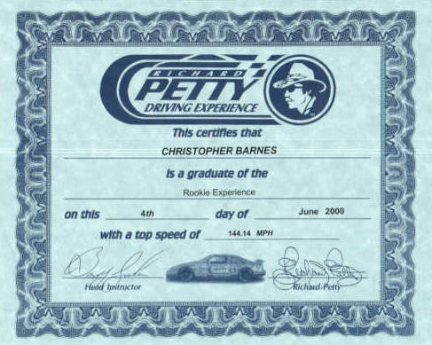 Certificate - My proof of speed!